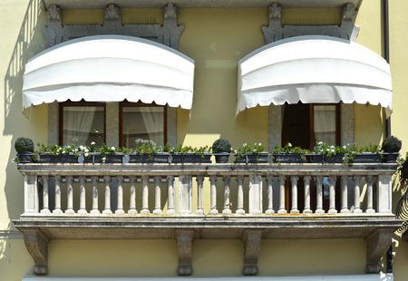 Traditional Italian balcony. Salo, Lake Garda, Italy photo
