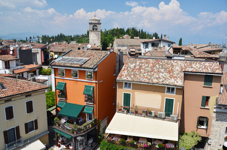 sirmione: Sirmione town at the lake Garda, Italy Editorial