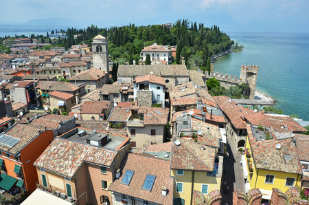 sirmione: Sirmione town at the lake Garda, Italy Stock Photo