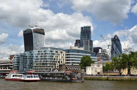 London across Thames river photo