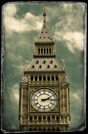 Vintage photo of Big Ben photo