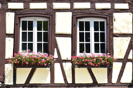 Traditional French houses in Colmar photo