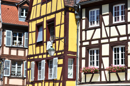 fachwerk: Traditional French houses in Colmar Stock Photo