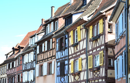 colmar: Traditional French houses in Colmar Stock Photo