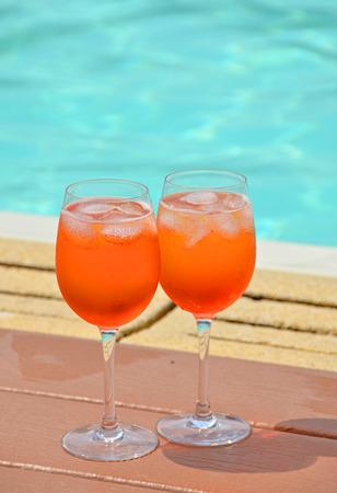 spritz: Traditional Italian Spritz cocktail Stock Photo