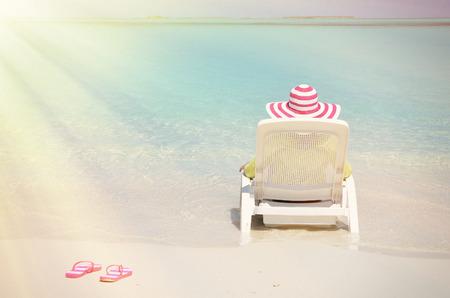 beam of light: Beach scene, Great Exuma, Bahamas Stock Photo