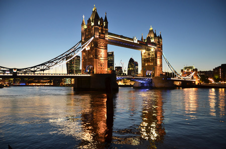 river banks: Tower bridge in London Stock Photo