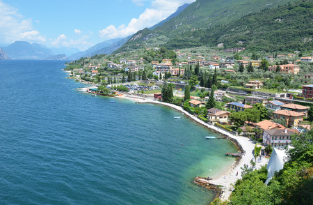 garda: Malcesine - a beautiful relaxed town at lake Garda, Italy