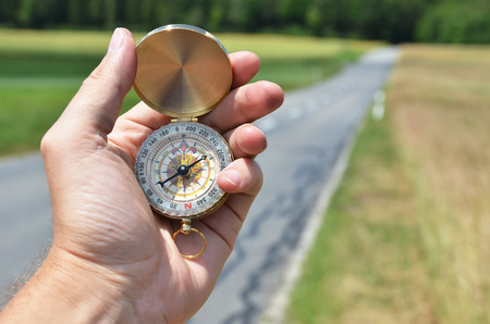 azimuth: Compass in the hand