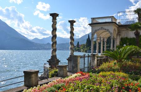 lake como: View to the lake Como from villa Monastero. Italy
