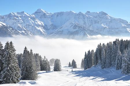 whiteness: Braunwald, Switzerland Stock Photo