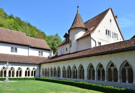 jura: The Saint Ursanne collegiate church and its cloister. Canton Jura, Switzerland Stock Photo