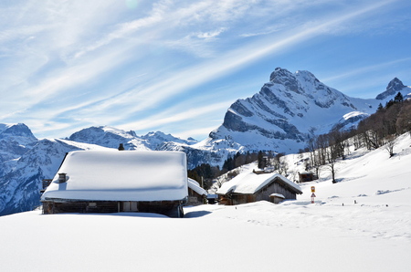 cottage: Braunwald, Switzerland Stock Photo
