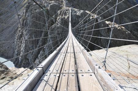 longest: Trift Bridge, the longest 170m pedestrian-only suspension bridge in the Alps. Switzerland