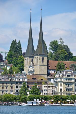 gabled: Hof church in Lucerne, Switzerland