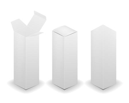 Blank box isolated on white background. Vector illustration.