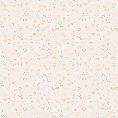 Seamless hearts patterns. Cute background for Valentines Day. Vector illustration. Иллюстрация