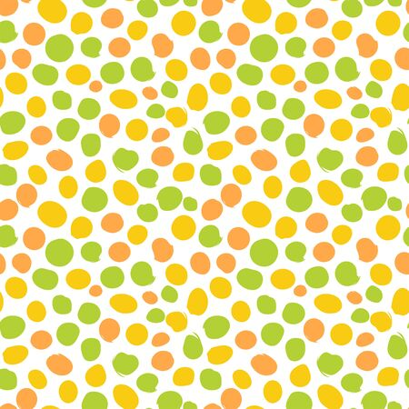 Hand draw dots seamless pattern. Cute background with round spots. Vector Illustration.
