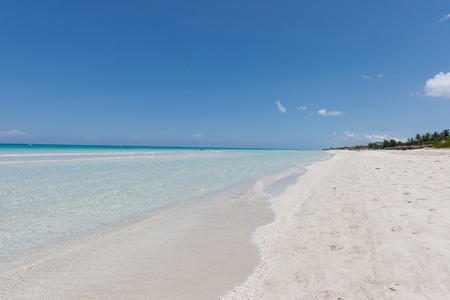 Beatiful beach with white sand Stock Photo