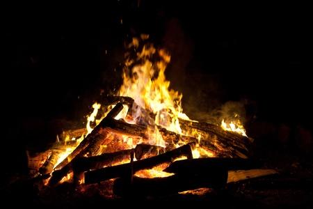 Lagerfeuer zur Walpurgisnacht Stock Photo