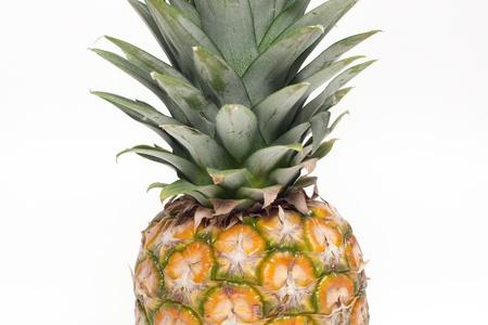 One pineapple fruit on white background