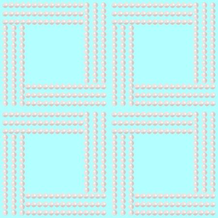 bead: Easy elegant pearl bead seamless pattern on light blue background