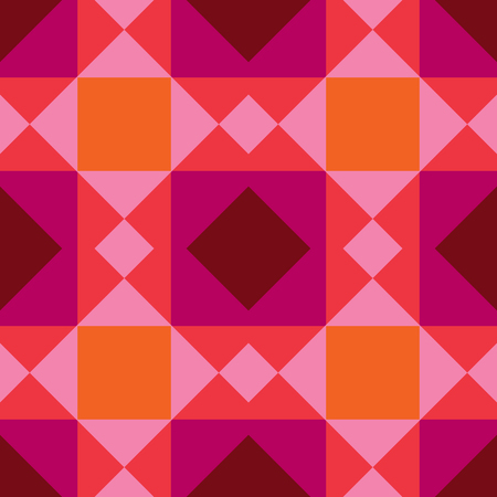 Vector seamless colorful decorative abstract tile background pattern. Traditional tile