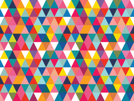 Vector colorful geometric shapes seamless pattern background. Perfect for textile design, fashion prints, paper backgrounds and print on demand products.