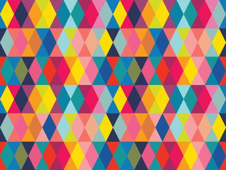 Vecteur de formes géométriques colorées sans soudure de fond. Parfait pour le design textile, les imprimés de mode, les arrière-plans en papier et les produits d'impression à la demande. Vecteurs