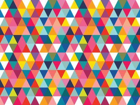 Nahtloser Musterhintergrund des Vektors bunte geometrische Formen. Perfekt für Textildesign, Modedrucke, Papierhintergründe und Print-on-Demand-Produkte. Vektorgrafik