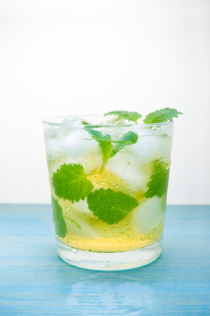 cocktail with mint and ice Stock Photo