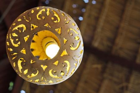 A clay ceramic lamp shade Stock Photo - 7031649