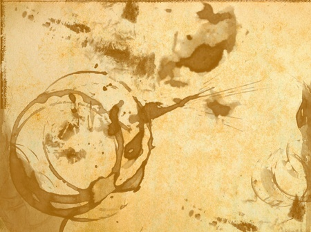 water stained: texture of old blank paper with stained of glass