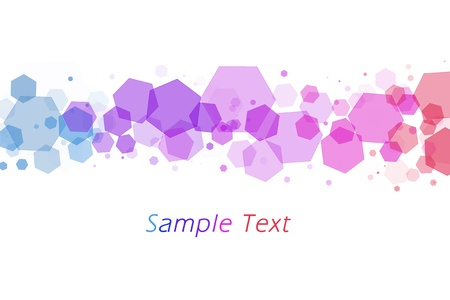 colorful hexagon bokeh background photo