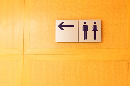 Toilet sign and direction Stock Photo - 9225084