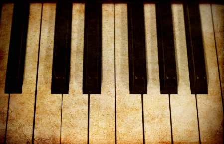 Old image of piano keys photo