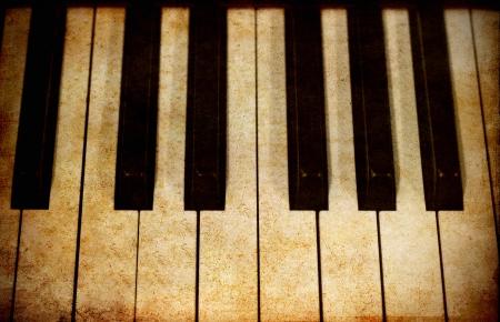 Old image of piano keys photo