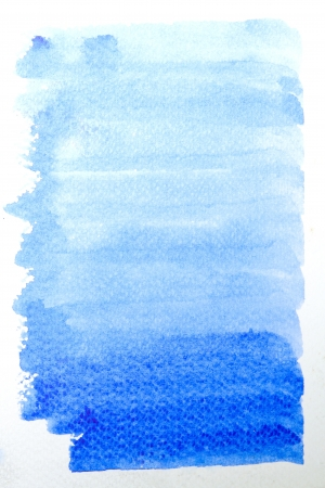 blue watercolor brush strokes for background  photo
