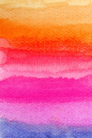 water colour: Colorful watercolor brush strokes