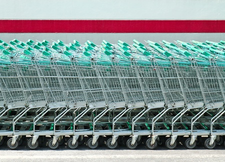 shopping carts in supermarket Stock Photo - 8766839