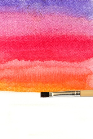 artists brush strokes watercolor painted photo