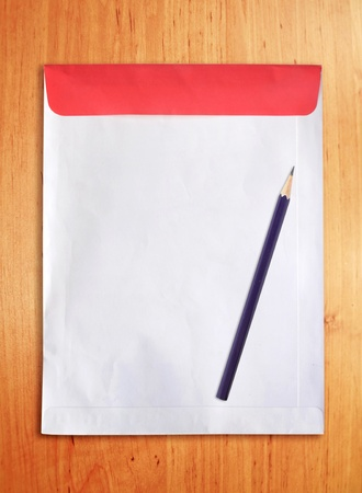 empty document with pencil photo