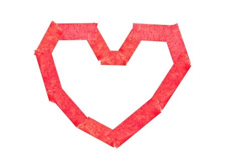 adjuntar: Cinta adhesiva adjuntar como coraz�n