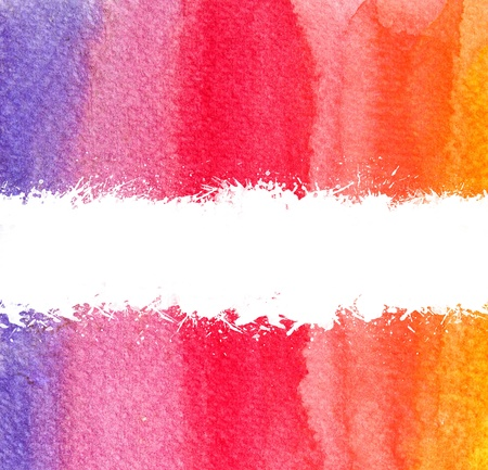 colorful watercolor brush strokes with white scratch and space Stock Photo - 9295744
