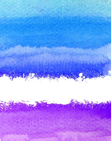 colorful watercolor brush strokes with white scratch and space Stock Photo - 9295740