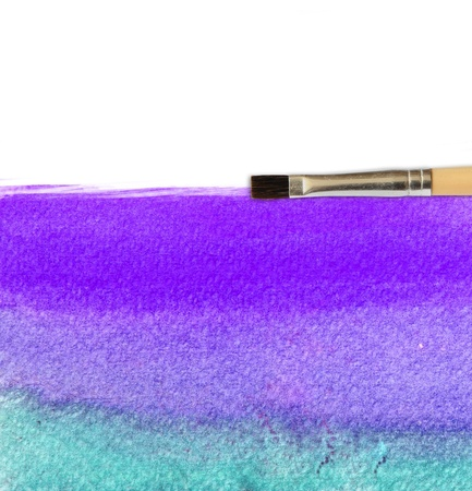 colorful watercolor brush strokes for background Stock Photo - 9295743