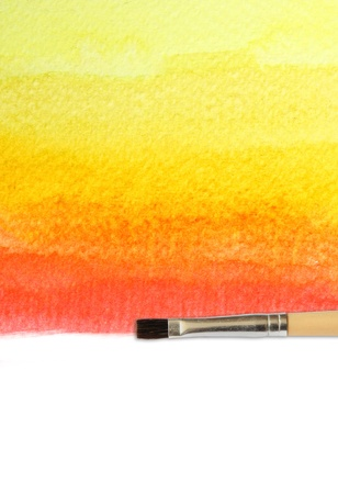 colorful watercolor brush strokes for background  photo