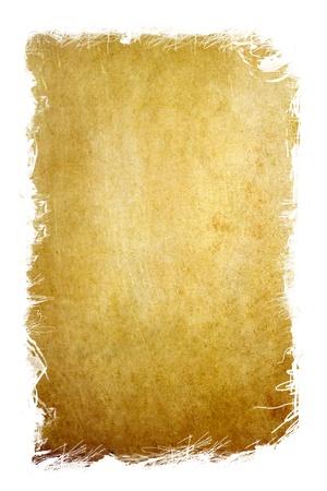quemadura: papel viejo grunge con borde de memoria virtual de marco blanco Foto de archivo