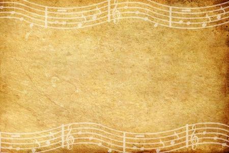vieux grunge papier et musique note avec espace