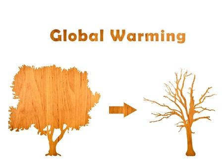 lifeless: Global Warming with living and lifeless tree